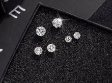 Load image into Gallery viewer, Temperament Elegant / Diamond silver earrings set of 3