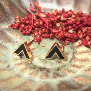 Temperament Elegant / Set of small gold earrings