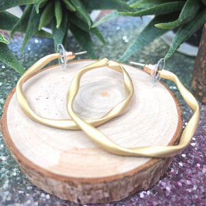 Temperament Elegant / Wild circle earrings