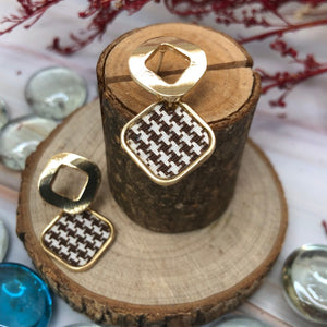 Temperament Elegant / Square Mosaic Geometric Shapes Earrings