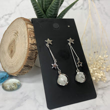 Load image into Gallery viewer, Temperament Elegant / Star and Silver long earring