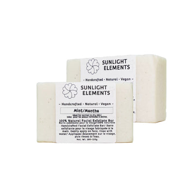 Facial exfoliating bar- Mint