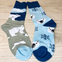 Load image into Gallery viewer, Styled cotton socks- Polar Bear Blue