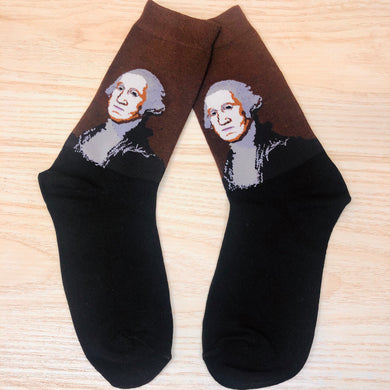 Styled cotton socks- George Washington Brown