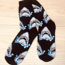 Load image into Gallery viewer, Styled cotton socks- Shark Blue