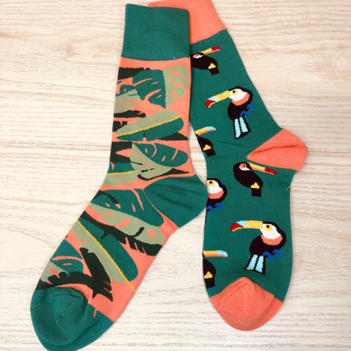 Styled cotton socks- Tucan Orange