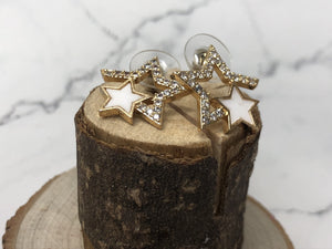 Temperament Elegant / Sterling star silver earrings