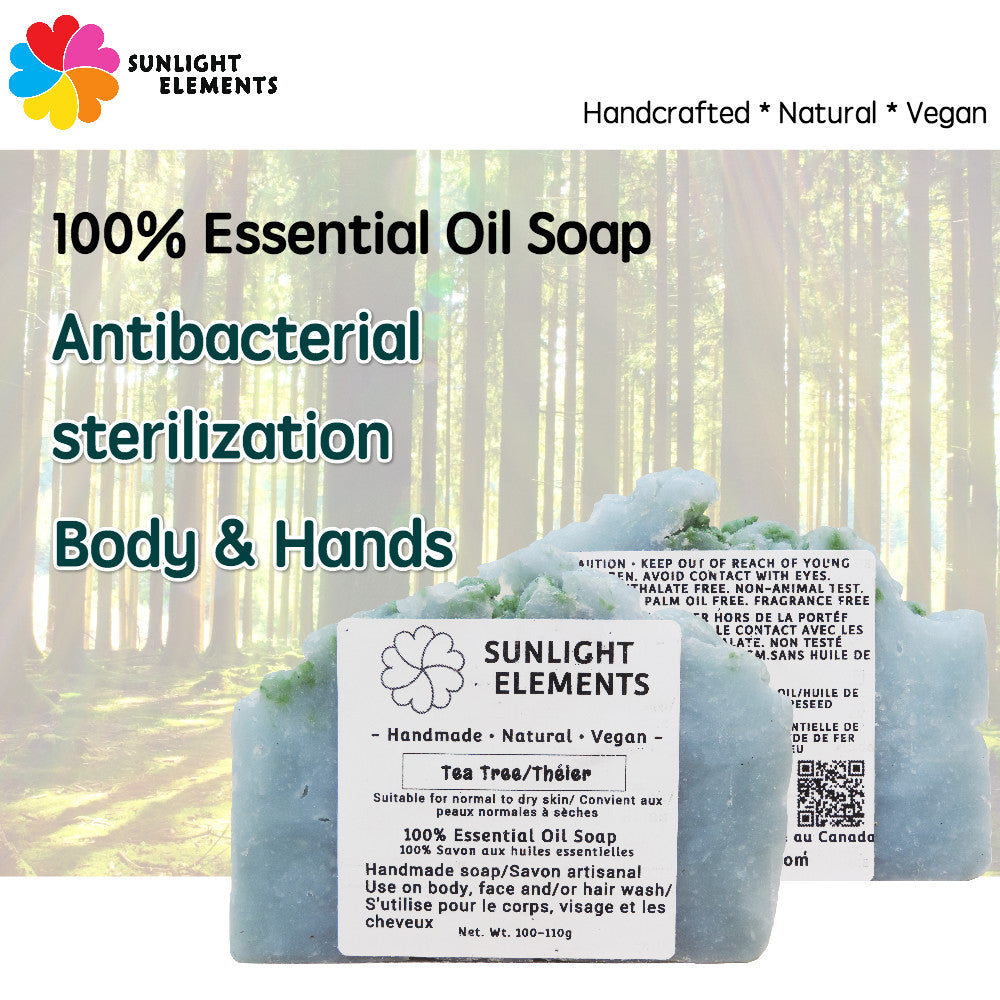 Sterilization/Anti-Bacterial Essential Oil Bar soap- Magical Tea Tree