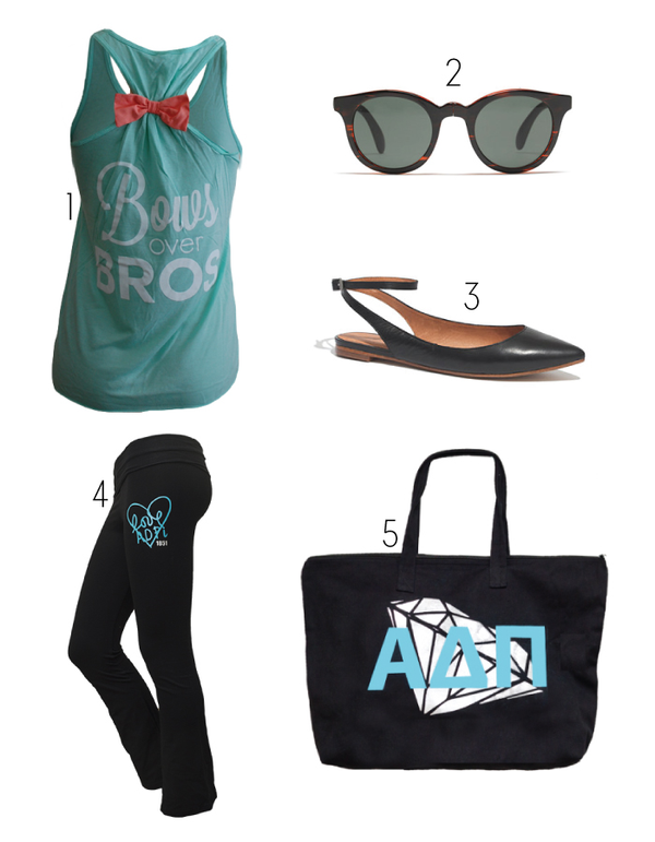 Alpha Delta Pi Love Yoga Pants, and the Alpha Delta Pi Diamond Tote