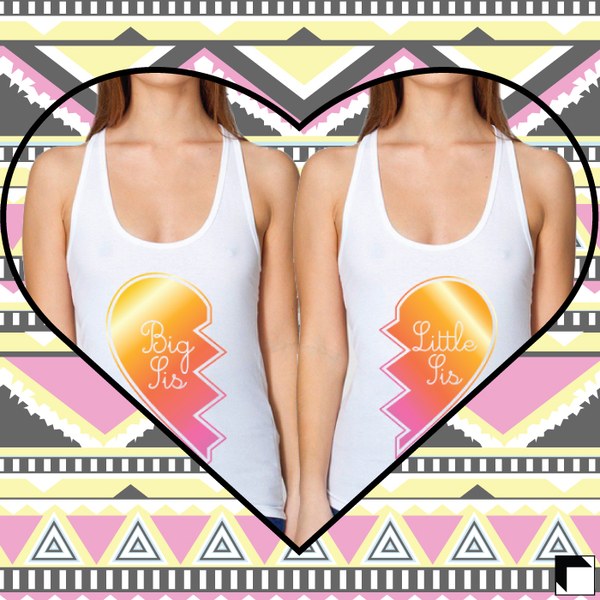 sorority big little tank top design