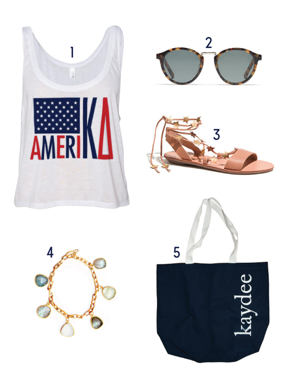 Kappa Delta America Crop Top KD bag