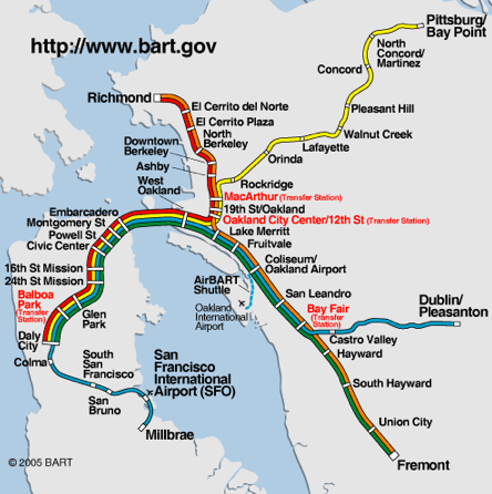 BART SF MAP