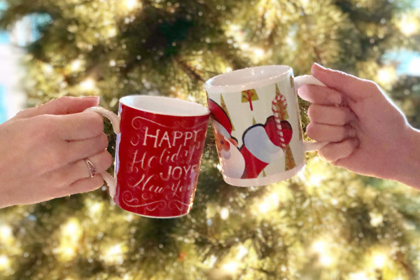 custom greek life holiday mugs