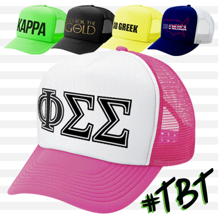 sorority Neon Trucker Hats: ABD #TBT