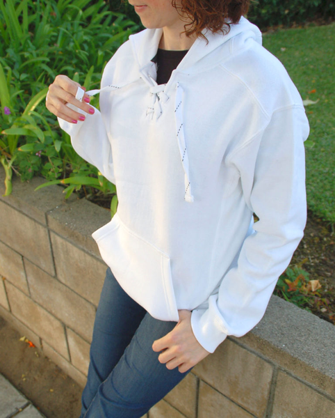 blank sorority hooded pullover