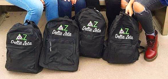 custom delta zeta backpacks