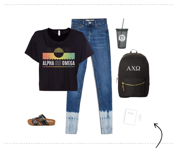 alpha chi omega graphic tee