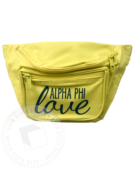 Alpha Phi Love Fanny Pack-Adam Block Design