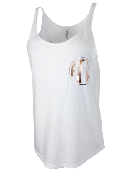 Sample Sale: Alpha Gamma Delta Foil Monogram Tank (S)-Adam Block Design