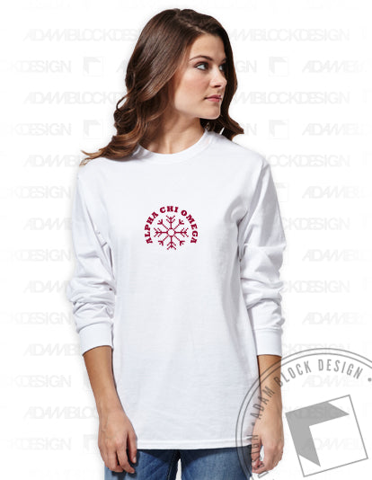 Snowflake Long Sleeve Tee Shirt-Adam Block Design
