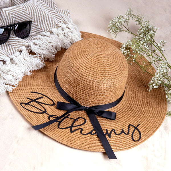 Custom Beach Hat - Embroidered