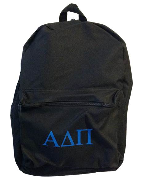 Sample Sale: Alpha Delta Pi Simple PR Backpack-Adam Block Design