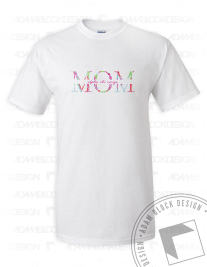 Floral Mom Tee-Adam Block Design