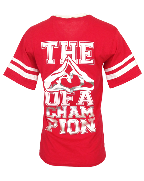 Alpha Omicron Pi Heart of a Champion T-shirt-Adam Block Design