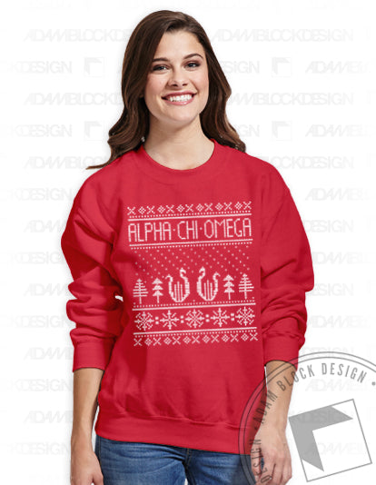 Ugly Holiday Sweatshirt-Adam Block Design