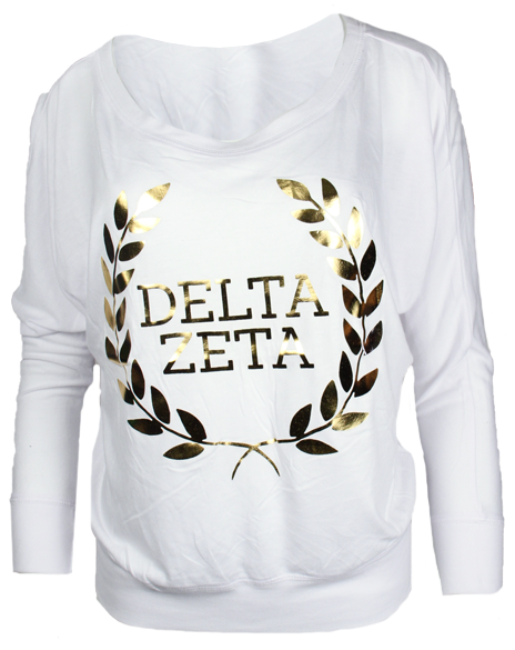 Sample Sale: Delta Zeta Laurel Wreath Long Sleeve-Adam Block Design