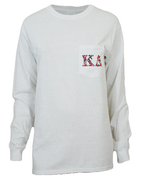 Sample Sale: Kappa Delta Holiday Whale Long Sleeve (S)-Adam Block Design
