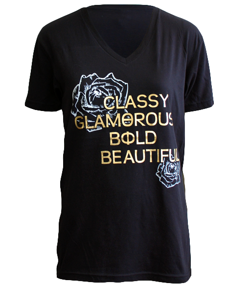 Sample Sale: Theta Phi Alpha Bold Beautiful Vneck (S)-Adam Block Design