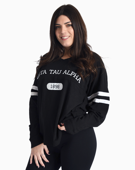 Sample Sale: Zeta Tau Alpha 1898 Varsity Long Sleeve (S)-Adam Block Design