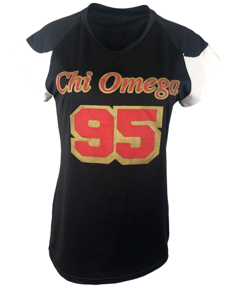 Sample Sale: Chi Omega 95 Jersey (L)-Adam Block Design