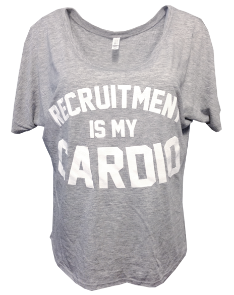 Sample Sale: Recruitment Is My Cardio Tee (M)-Adam Block Design
