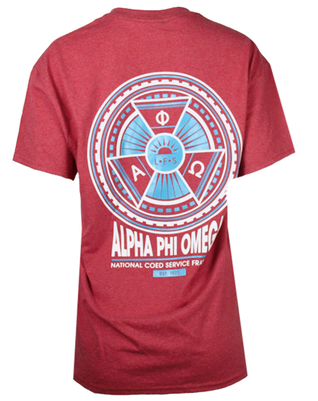 Sample Sale: Alpha Phi Omega Service Pin T-shirt (M)-Adam Block Design