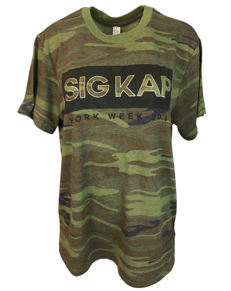 Sample Sale: Sigma Kappa Camo Work Week Tee (L)-Adam Block Design