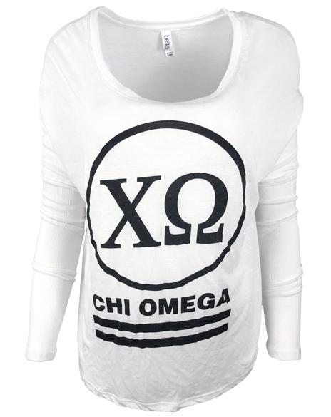Sample Sale: Chi Omega Circle Long Sleeve (L)-Adam Block Design