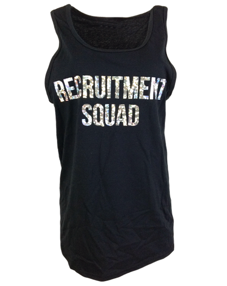Sample Sale: Panhellenic Recruitment Squad Tank (M)-Adam Block Design