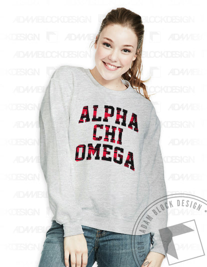 Red Plaid Name Sweatshirt-Adam Block Design