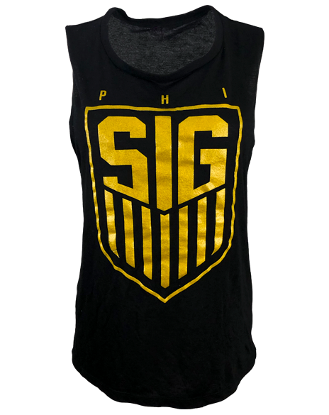 Sample Sale: Phi Sigma Sigma Soccer Tank (M)-Adam Block Design