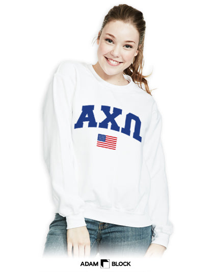 Simple Flag Sweatshirt-Adam Block Design