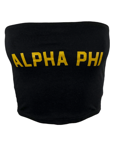 Sample Sale: Alpha Phi Name Tube Top (S)-Adam Block Design