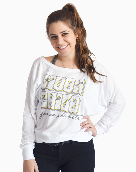 Sample Sale: Gamma Phi Beta Moon Child Long Sleeve (M)-Adam Block Design