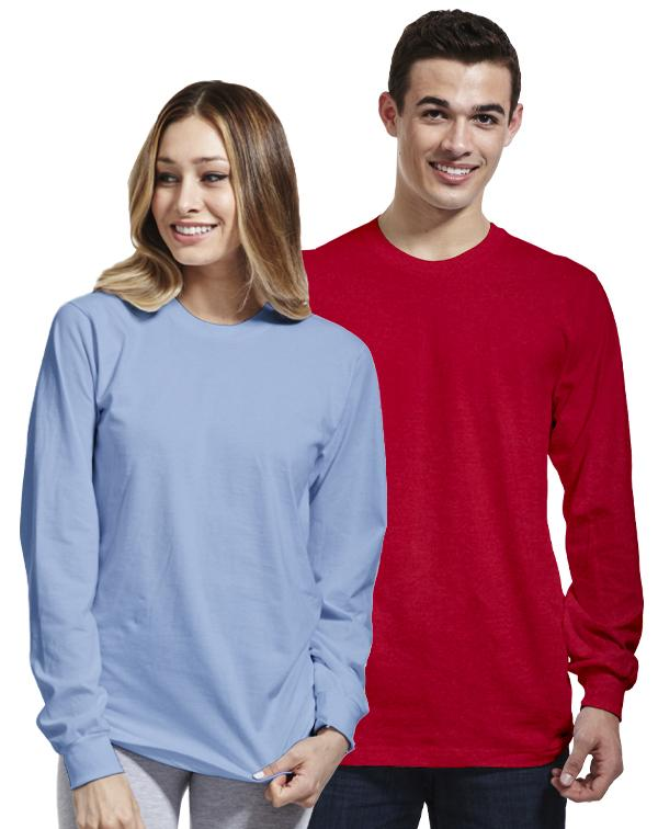American Apparel Fine Jersey Long Sleeve Tee-blank-Adam Block Design