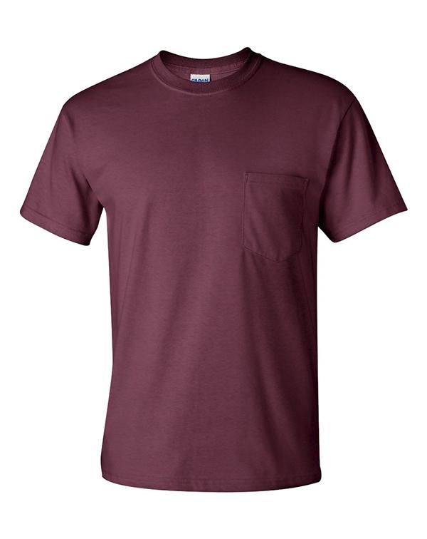 Gildan Short Sleeve Pocket T-Shirt-blank-Adam Block Design