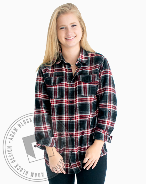 Chi Omega Simple Letter Flannel-Adam Block Design