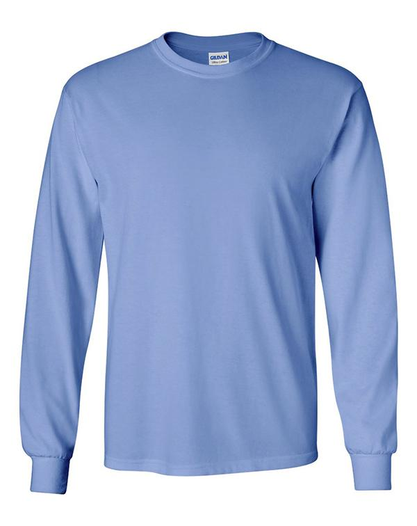 Gildan Ultra Cotton® Long Sleeve Tee-blank-Adam Block Design