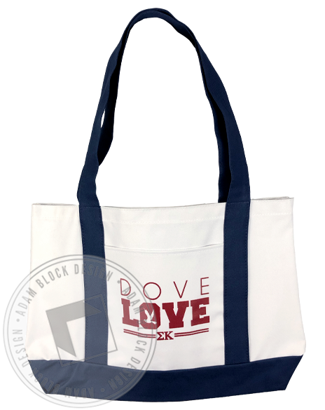 Sigma Kappa Dove Love Tote-Adam Block Design