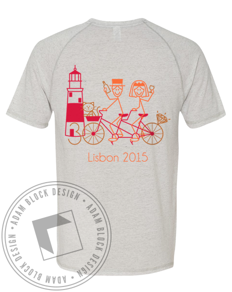 30th Anniversary Bicycle Lisbon Tshirt-Adam Block Design